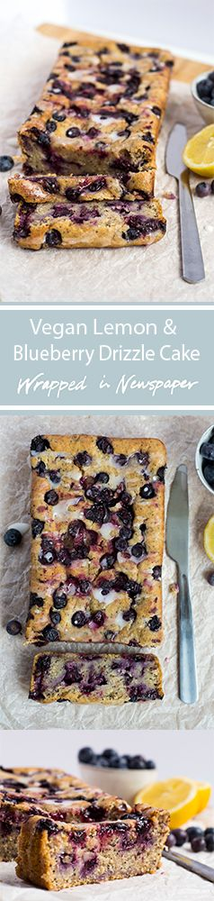Vegan Lemon and Blueberry Drizzle Cake perfect for Easter or a Mother's Day cake!