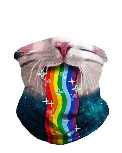 Dust Masks for Burning Man: iHeartRaves Rainbow Kitty Seamless Mask Rave Festival Bandana #burningman