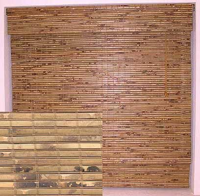 BAMBOO BLINDS For ceiling above bed, put white Christmas lights
