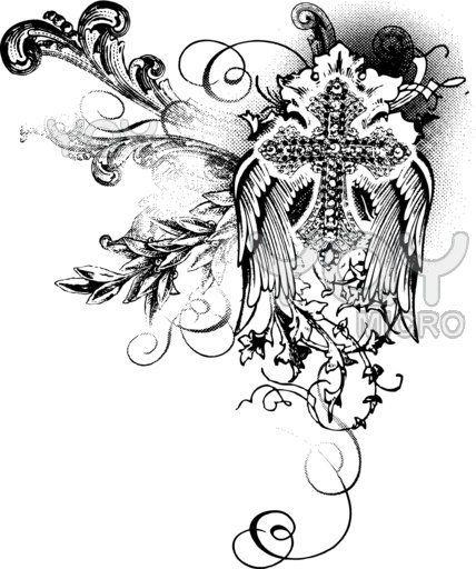 small tribal tattoos   Girls Tribal Cross Tattoo Designs