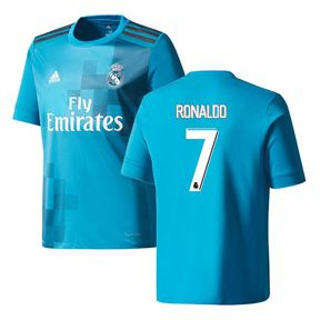 adidas Youth Real Madrid Ronaldo #7 Soccer Jersey (Alternate 17/18): http://www.soccerevolution.com/store/products/ADI_41043_A.php