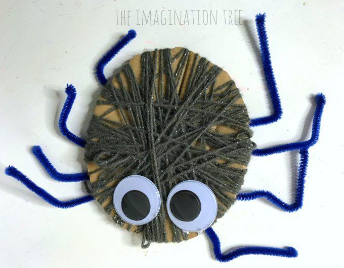 Yarn Wrap Spider Craft