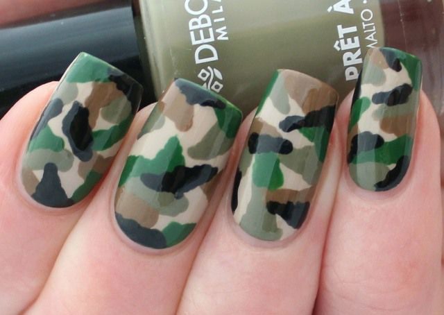 Camouflage Nail Art Tutorial - Unghie mimetiche ‪#‎nailart‬ ‪#‎unghie‬ ‪#‎fashion‬ ‪#‎beauty‬