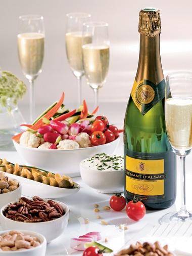 Cremant d' Alsace, een mousserende wijn met vele wijn/spijs mogelijkheden!