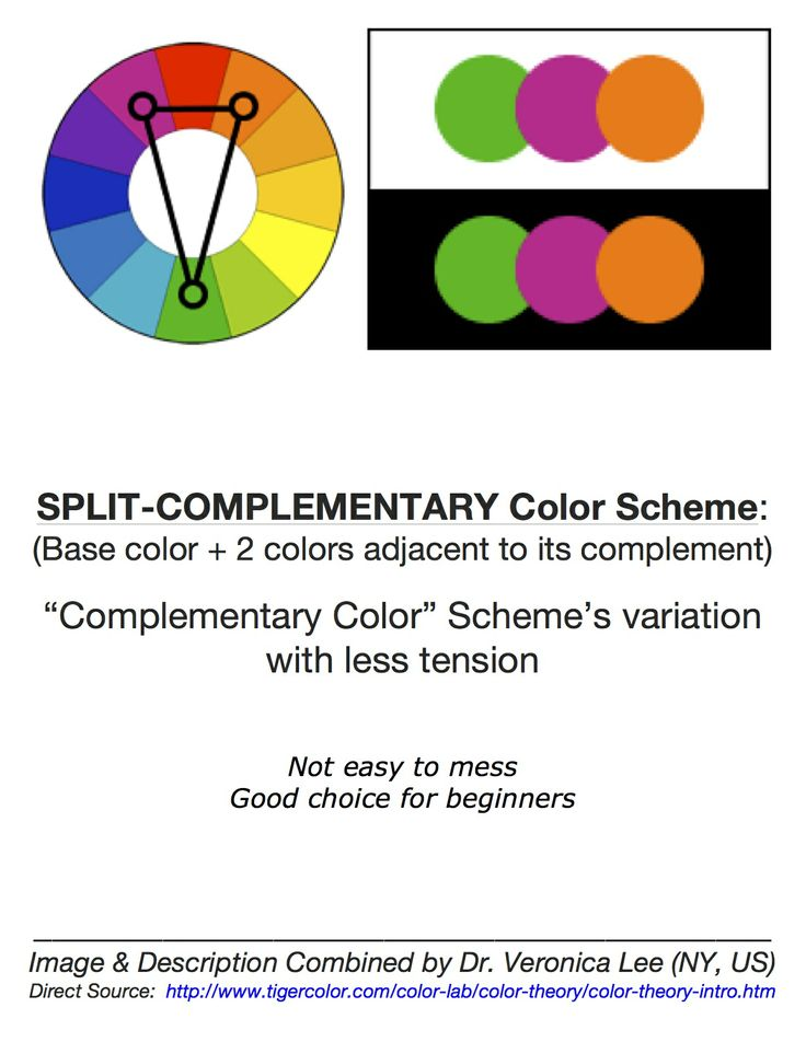 20 best color images on pinterest - Split complementary colors definition ...