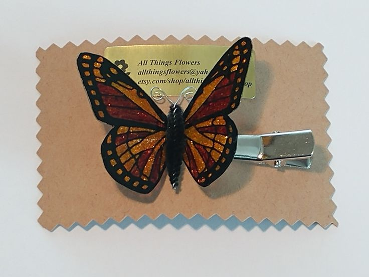 Hair Clip / Monarch Butterfly