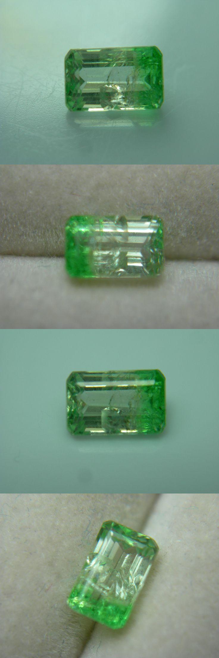 Tsavorite 110809: Rare Tsavorite Leuco Bi-Color Colorless Green Garnet Gem Grossular Fluorescent D -> BUY IT NOW ONLY: $194.99 on eBay!