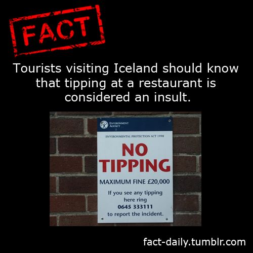 Don't Tip in Iceland | Fact Daily>>>Really. Dont