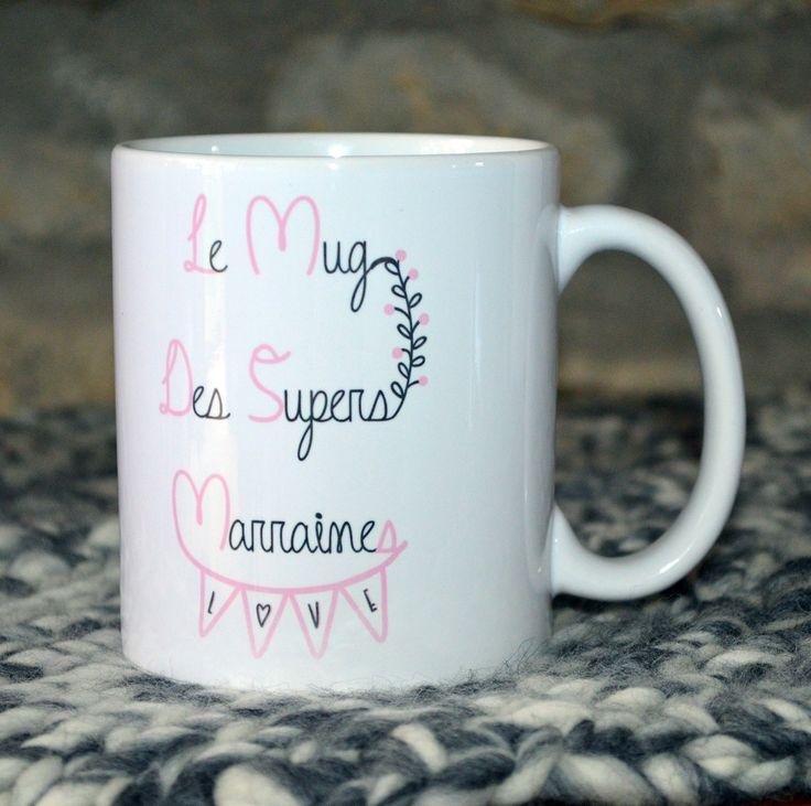 Le mug des supers marraines Cadeau Baptême personnalisable : Vaisselle, verres par crea-burgondia