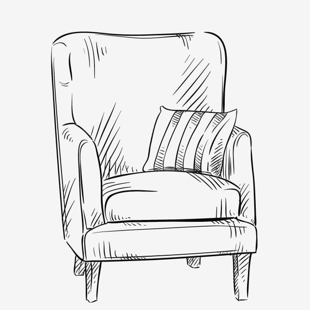 Simple Sketch Furniture Sketch Black And White Sketch Black And White Furniture Graffiti Furniture Lin In 2020 Drawing Furniture Black And White Furniture Line Drawing