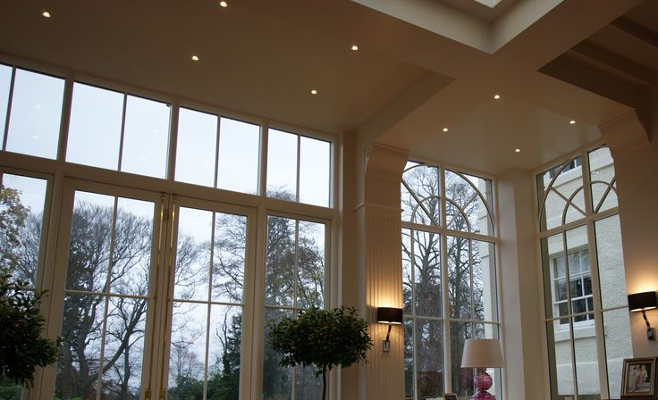 French doors and windows to a garden room