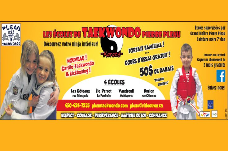 Pleau Taekwondo school Free trial class $ 50 discount for new members http://www.groupvaudreuil.com/product/pierre-pleau-taekwondo-school/