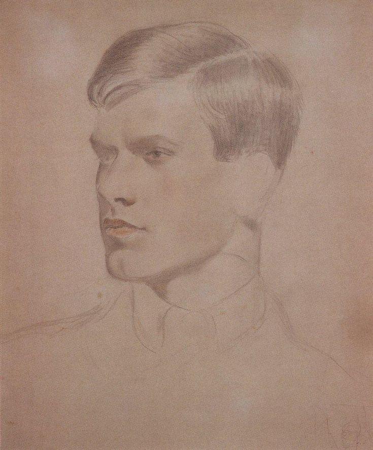 Portrait of K.B. Kustodiev, 1921  Boris Kustodiev