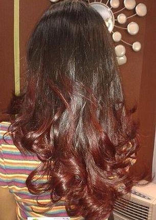 puntas californianas en rojoWant To Try, Punta Californianas, Californianas En, Colors, Alejandra Merino, Cabello De, Hair Style, Hair, Cuts