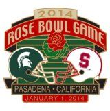 2014 Rose Bowl Game dual logo pin.