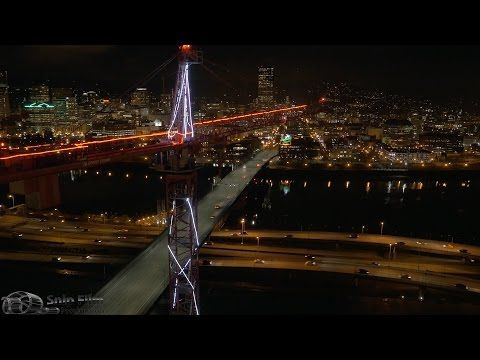 Portland, Oregon - Aerial Drone and Motion Time Lapse - Ultra HD 4K Royalty Free Stock Footage - YouTube