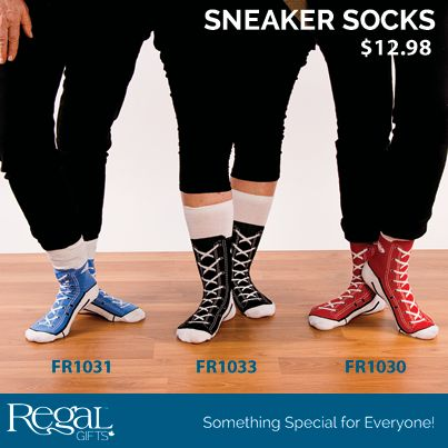 SNEAKER SOCKS  The perfect sock to wear to a house party or lounging around the house. Cotton blend. Fits adult sizes 5 to 11