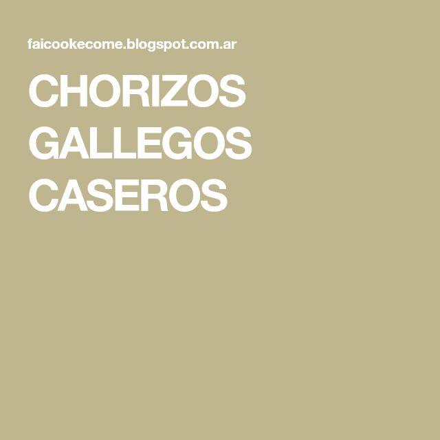 CHORIZOS GALLEGOS CASEROS