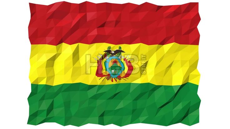 Flag of Bolivia 3D Wallpaper Animation, National Symbol, Seamless Looping Footage... ... by #Hebstreit