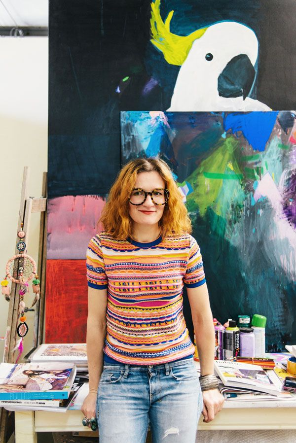 Miranda Skoczek in her St Kilda studio. Photo – Brooke Holm.