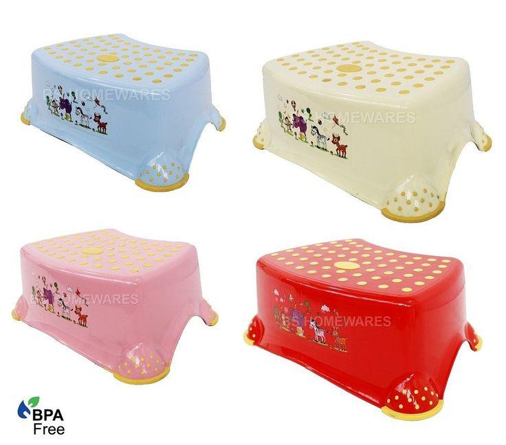 new plastic step stool non anti slip toilet potty training kids children kitchen