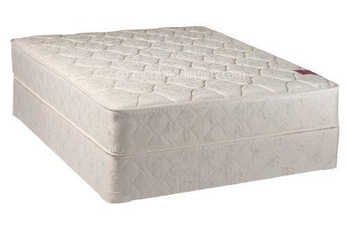 mattress and box spring queen. continental sleep mattress, fully assembled gentle firm orthopedic queen mattress and box spring, legacy collection, blue spring i