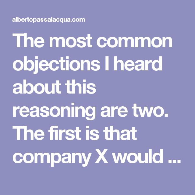 "The most common objections I heard about this reasoning are two. The first is that company X would not be able to profit. The second is that company X should be able to choose what to do with their work.  About the first objection, excluding the ethical aspects of profiting from something that was not created by them in the first place, there is no direct implication between ""free software"" (in the GPL sense) and ""not profitable"". Companies of very different sizes, from large software houses…"