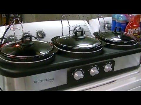 (8) Kitchen Living (Aldi) Triple Slow Cooker (2.5 QT) Review - YouTube