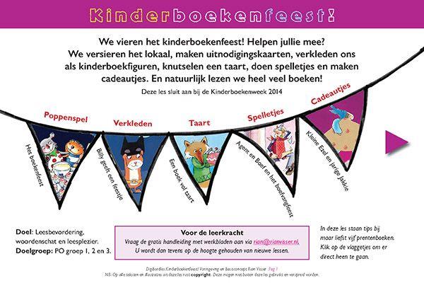 Kinderboekenweek 2014: Feest! Gratis digibordlessen van Rian Visser.