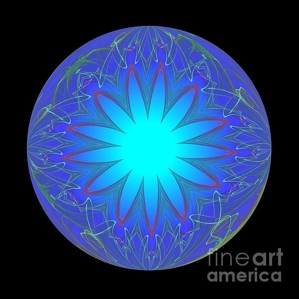 Fractal glowing ball by Becky Hayes, Photographer and Graphic Artist
