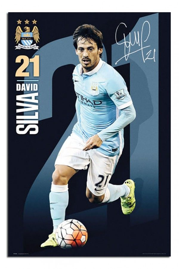 Manchester City David Silva 2015 / 16 Poster   iPosters