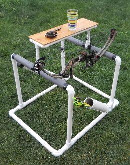 Archery Bow Stand Design - PVC