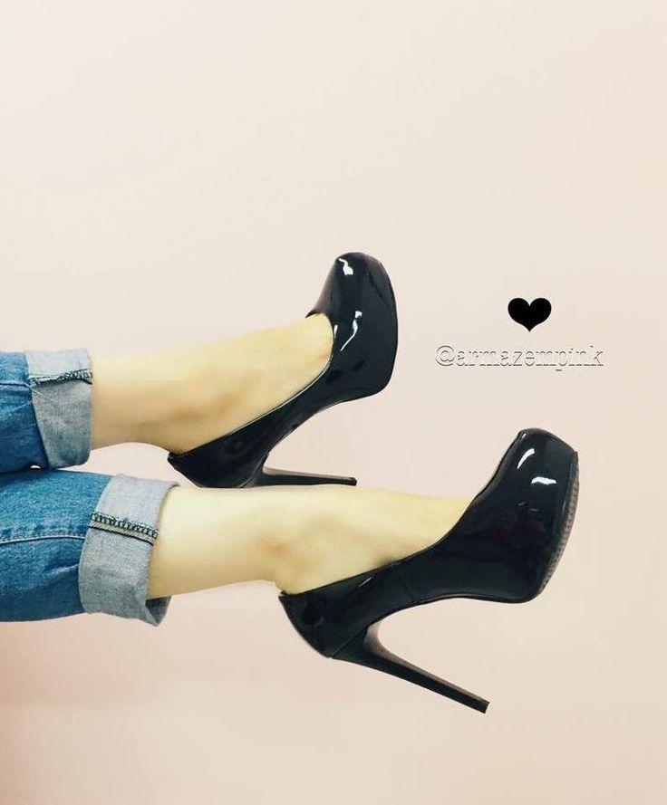 Sapato Meia Pata Lola (Loubotin) Black ♥