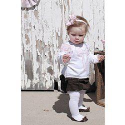 Girls Cord Skirt - Chocolate - Love Henry $24.45