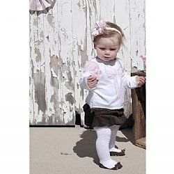 Girls Cord Skirt - Chocolate - Love Henry $24.45