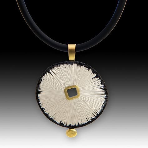 Sand Dollar Pendant by Susan Mahlstedt.
