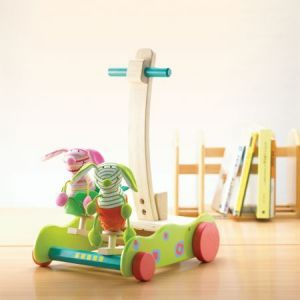 Beautiful wooden walker to assist your young one when taking big new steps!