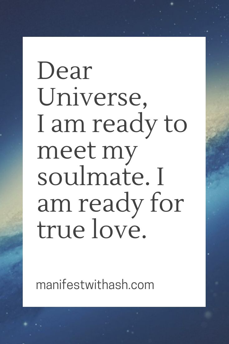 Dear Universe | Manifestation | Law of attraction …