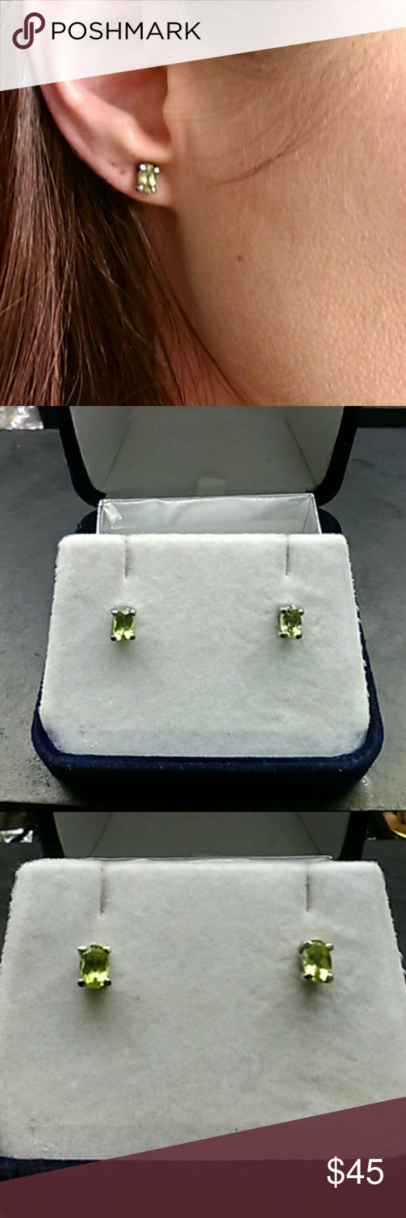 2cts Genuine Peridot 316L Stainless Steel Authentic genuine 2 carat total weight Peridot. Solid 316L stainless steel earrings.flash sale 316L grade stainless is Surgical Steel. It's a low nickel steel used in surgical instruments, and other medical equipment. It's considered hypoallergenic, and won't get gross tarnish or rust. estate 925 Jewelry Earrings