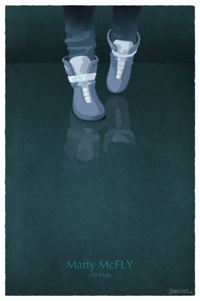 Movie Shoes, Illustrations of Iconic Footwear Worn by Famous Film & TV Characters