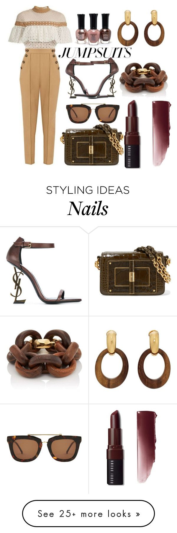 """checkmate"" by esha2232 on Polyvore featuring Tom Ford, Kaibosh, Yves Saint Laurent, Goossens, Bobbi Brown Cosmetics and jumpsuits"