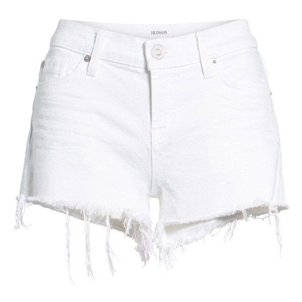 Women's Hudson Jeans Kenzie Cutoff Jean Shorts ($135) ❤ liked on Polyvore featuring shorts, hudson jeans, cut-off shorts, jean shorts, short jean shorts and denim shorts