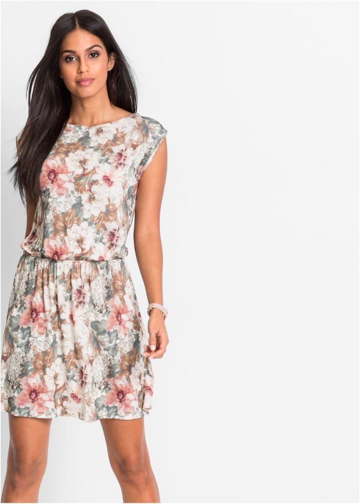 Beställ Jerseyklänning rosa/grå, mönstrad nu från 289.- kr i online-butiken på bonprix.se Blommig jerseyklänning från BODYFLIRT. Klänningen är ärmlös och ...
