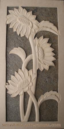cuadro girasoles tallado en madera cuadro girasoles tallado en madera mdf de 12mm  densidad 600 tallado a mano,talla