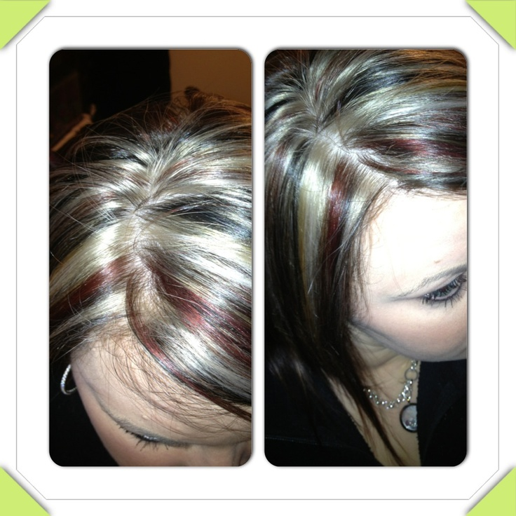 Black Red And Blonde On Top An Dark Brown Underneath My