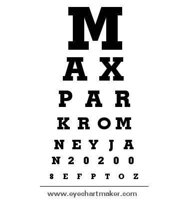 Custom Eye Chart Maker Diy Pinterest Eye Chart Chart Maker