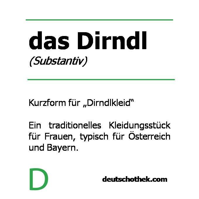 #WortderWoche: das Dirndl. #Deutschothek #Sprachschule #Deutschlernen