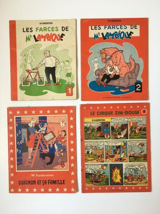 Mijnheer Lambik T1  T2 T1 macabere pranks  cirque - Zim boom T2 - 4xB - EO (1955/1958)  Willy VandersteenDe streken van heer Lambique No. 1 goede conditie vlekken kleine scheur en schoot van de lezing op de eerste dish een paar plekken in het notitieblok.De streken van heer Lambique No. 2 zeer goede staat kleine vouwen van de eerste schotel onberispelijke boek lezen.Mason en zijn familie zeer goede staat terug en hoeken een beetje versleten rug onberispelijke notebook.Circus zim - boom…