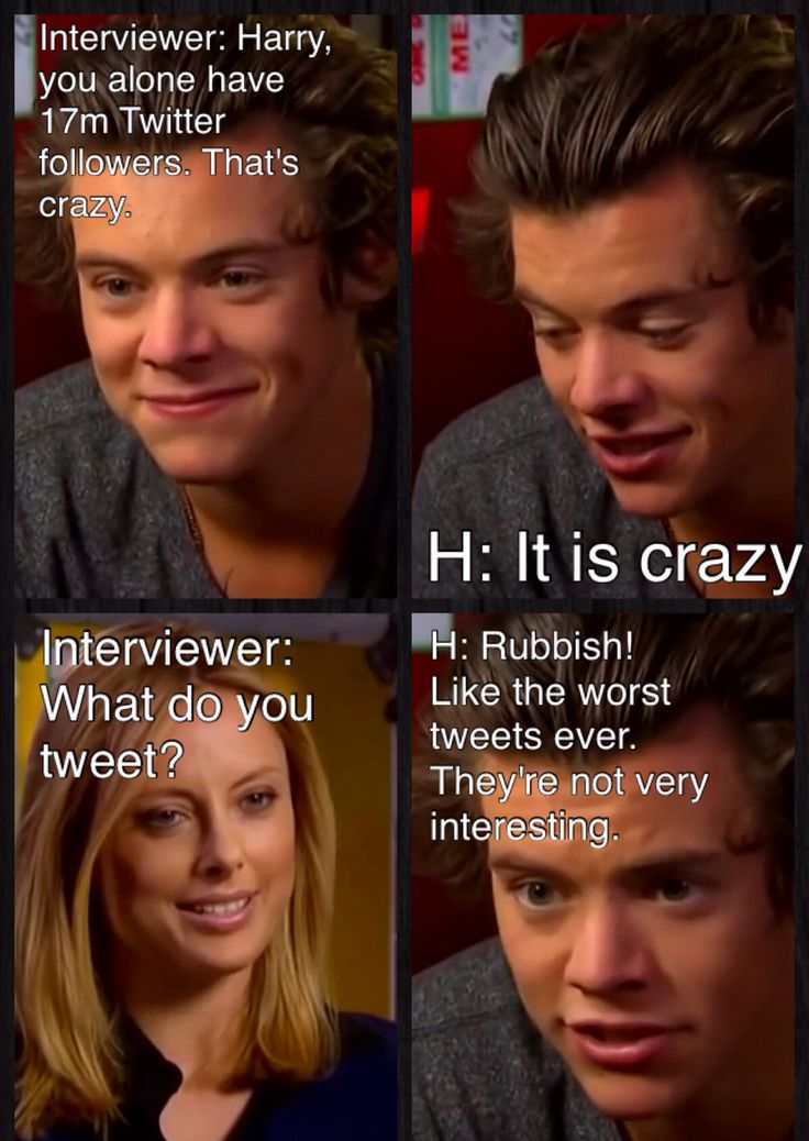 """At least he knows he tweets a load of crap! :) One Direction   Funny Interview   One Direction Interview """"60 minutes"""" (Australia) Full   Harry Styles"""