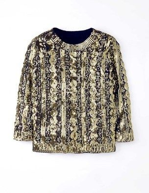 Sequin Cable Jumper
